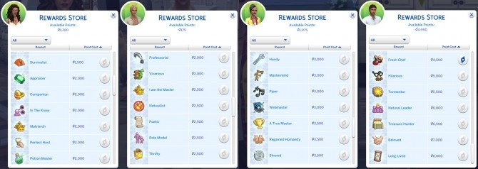Expanded Rewards Store by Frimlin at Mod The Sims image 978 670x238 Sims 4 Updates