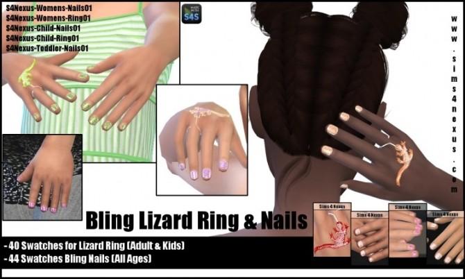 Bling Lizard Ring & Nails by SamanthaGump at Sims 4 Nexus image 981 670x402 Sims 4 Updates