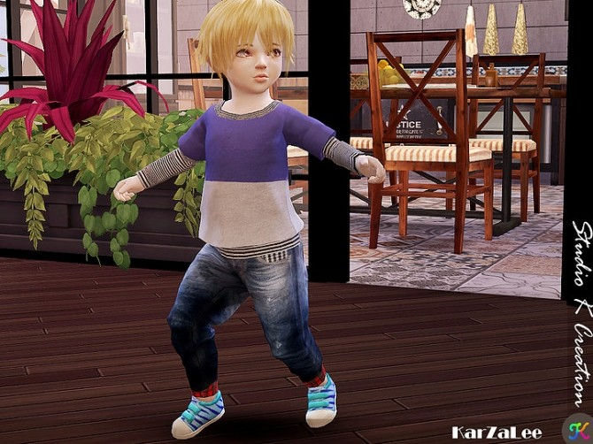 Giruto 48 roll up jeans for toddler at Studio K Creation image 987 670x502 Sims 4 Updates