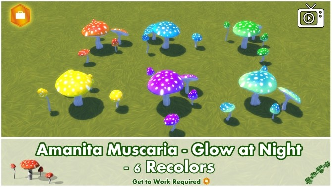 Amanita Muscaria Glow at Night by Bakie at Mod The Sims image 1008 670x377 Sims 4 Updates