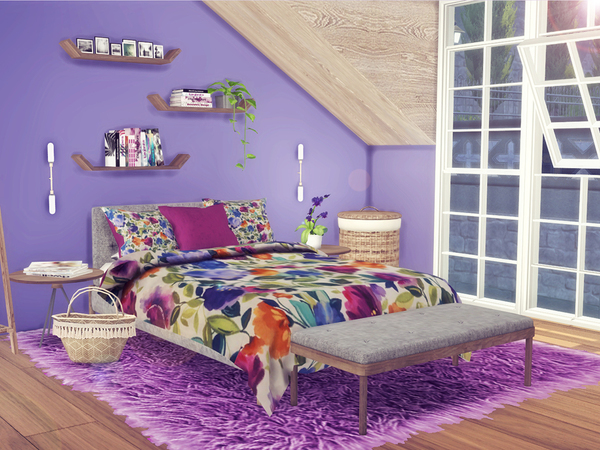 Floral Bedding 2 by Sooky at TSR image 10101 Sims 4 Updates
