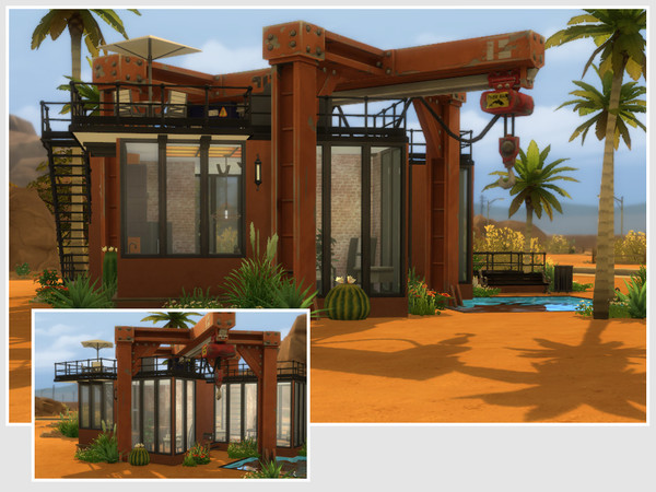 Sims 4 Industrial Home No CC by philo at TSR