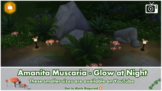 Amanita Muscaria Glow at Night by Bakie at Mod The Sims image 10114 670x377 Sims 4 Updates