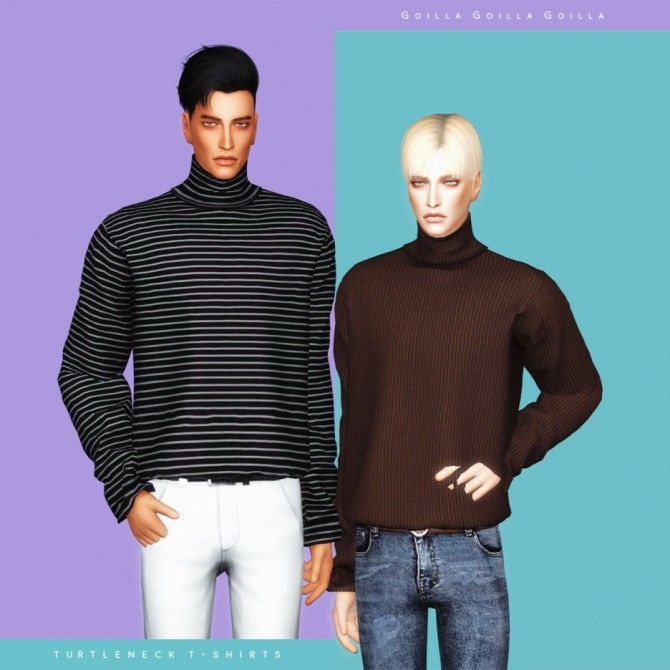 Turtleneck T Shirts at Gorilla image 1012 670x670 Sims 4 Updates