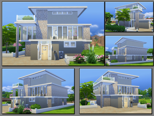 Sims 4 MB Shape Stability house by matomibotaki at TSR