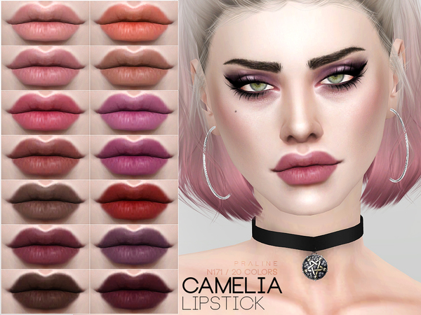 Camelia Lipstick N171 by Pralinesims at TSR image 1019 Sims 4 Updates