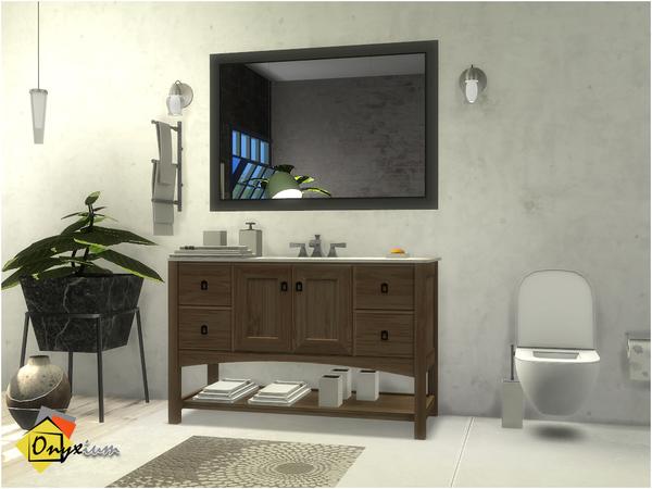 Brantford Bathroom by Onyxium at TSR image 1027 Sims 4 Updates