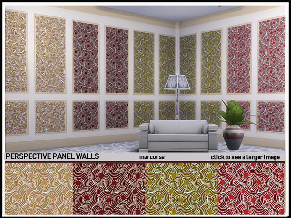 Perspective Panel Walls by marcorse at TSR image 1029 Sims 4 Updates