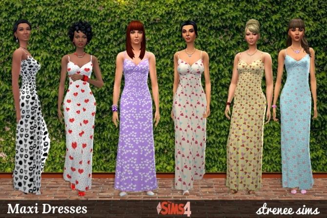21 Maxi Dresses at Strenee Sims image 1036 670x447 Sims 4 Updates