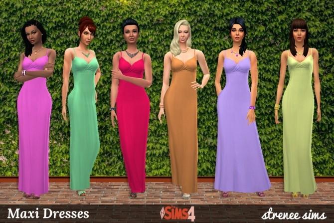 21 Maxi Dresses at Strenee Sims image 1046 670x447 Sims 4 Updates