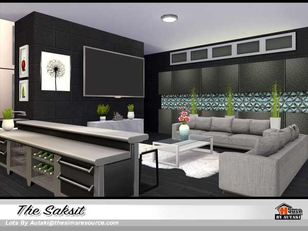 Sims 4 The Saksit house by autaki at TSR
