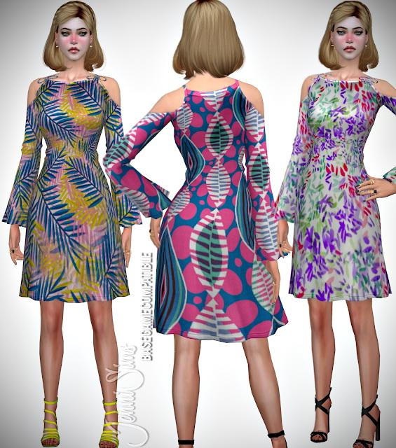 Flower dress at Jenni Sims image 1071 Sims 4 Updates