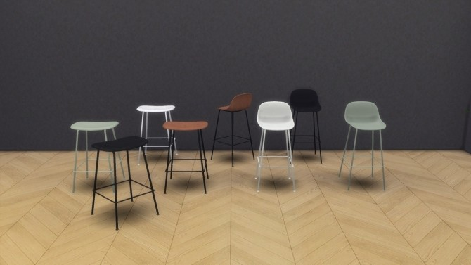 Sims 4 Fiber Stool Tube Base Collection at Meinkatz Creations
