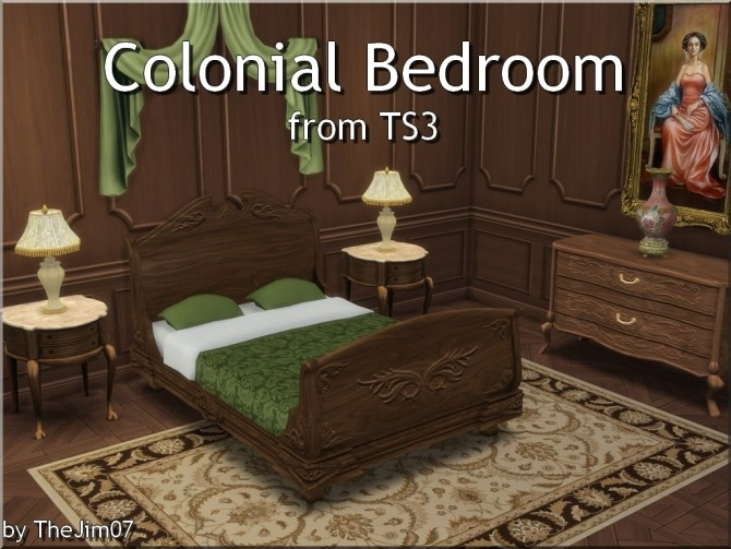 Colonial Bedroom from TS3 by TheJim07 at Mod The Sims image 1077 670x503 Sims 4 Updates