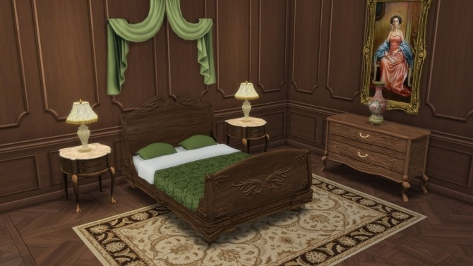 Sims 4 Colonial Bedroom from TS3 by TheJim07 at Mod The Sims