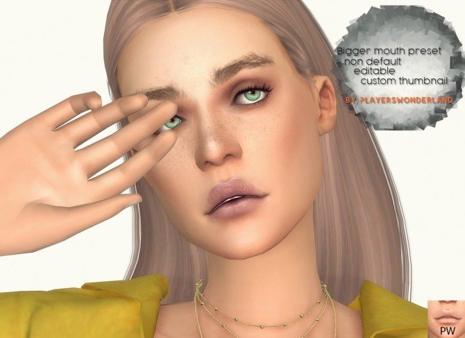 Custom Lip Preset by PlayersWonderland at PW's Creations image 1095 670x487 Sims 4 Updates