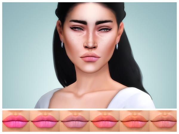 Sims 4 Levia Lipstick by KatVerseCC at TSR