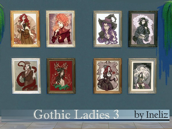 Gothic ladies 3 images by Ineliz at TSR image 1106 Sims 4 Updates