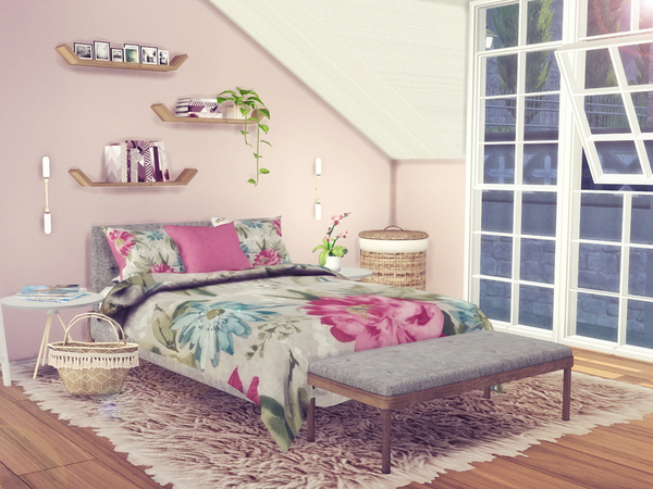 Floral Bedding 2 by Sooky at TSR image 11101 Sims 4 Updates