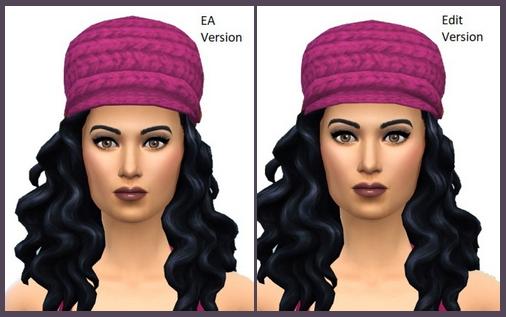 Sims 4 Cap Knit Brim Edit at Birksches Sims Blog