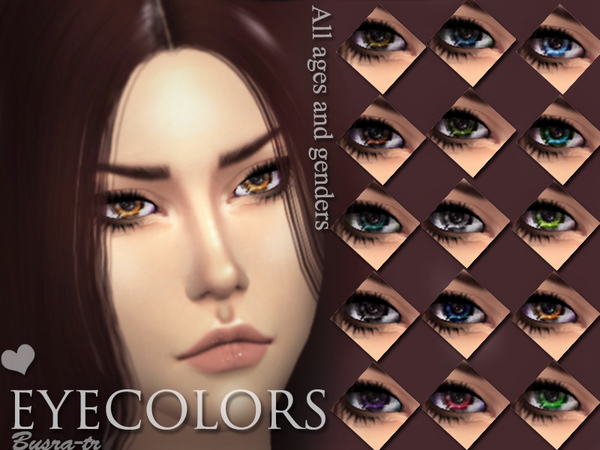 Sims 4 EyesX Realistic by busra tr at TSR