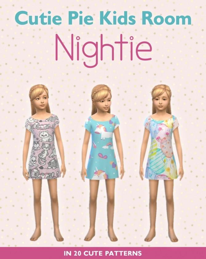 Sims 4 Cutie Pie Nightie at SimPlistic
