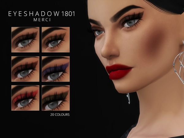 Eyeshadow 1801 by Merci at TSR image 1122 Sims 4 Updates