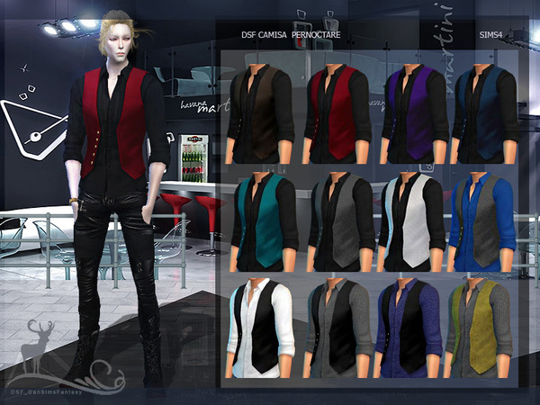 DSF SHIRT PERNOCTARE by DanSimsFantasy at TSR image 1127 Sims 4 Updates