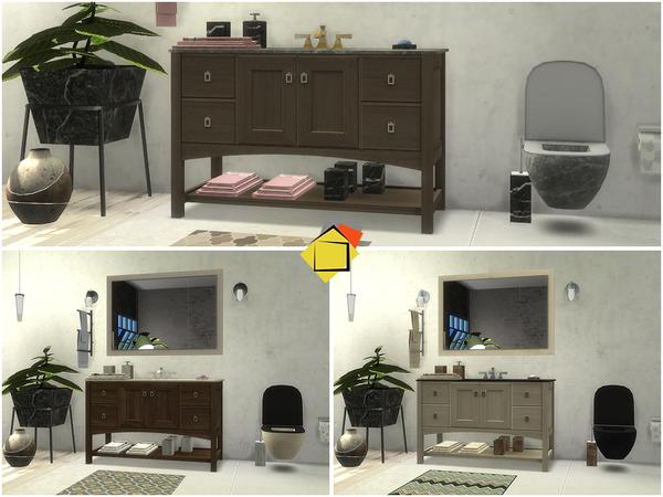 Brantford Bathroom by Onyxium at TSR image 1128 Sims 4 Updates