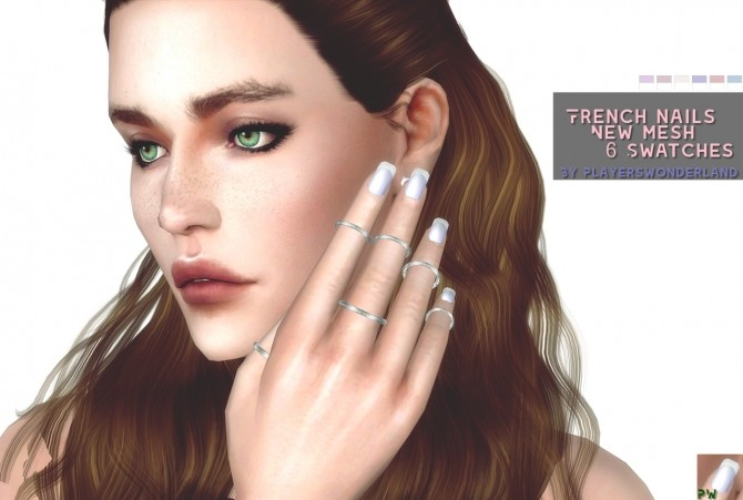 French Nails by PlayersWonderland at PW's Creations image 1129 670x451 Sims 4 Updates