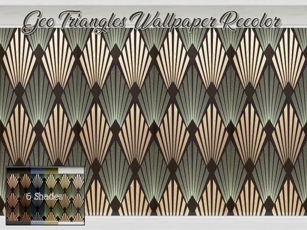 Geo Triangles Wallpaper Recolor by Beatrice e at TSR image 1137 Sims 4 Updates