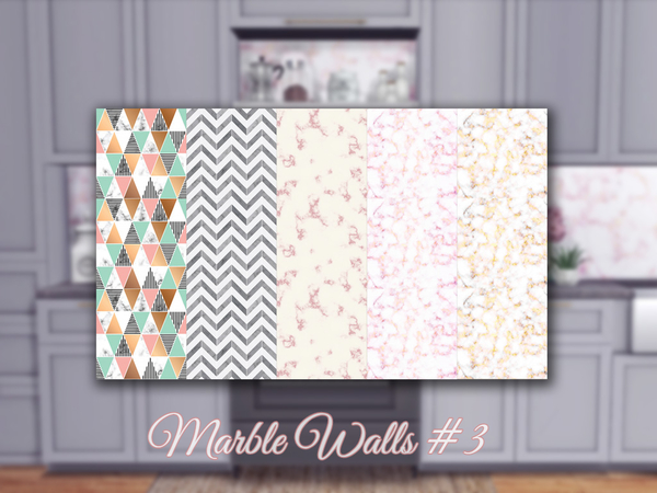 Sims 4 Marble Walls #3 by Sooky at TSR