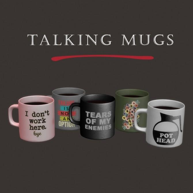 Sims 4 Talking mugs at Leo Sims