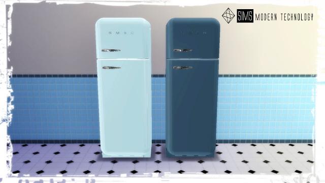 MG24 Retro Smeg Fridge Recolor at Sims Modern Technology image 115 Sims 4 Updates