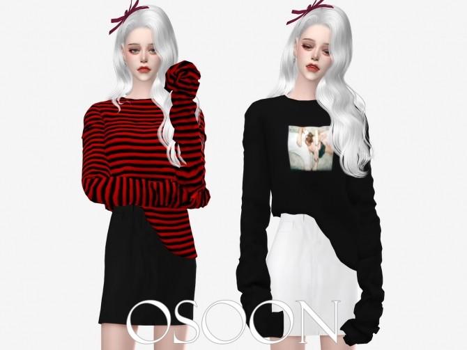 Sims 4 Long T Shirt at Osoon