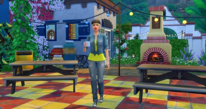 Sims 4 Alégria Bar by Angerouge at Studio Sims Creation