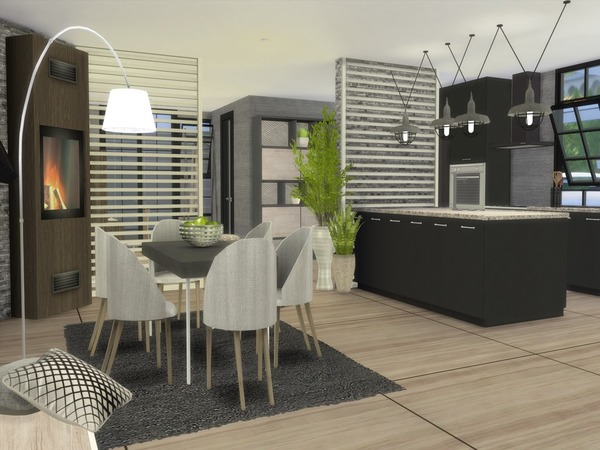 Sims 4 Emira Modern home by Suzz86 at TSR