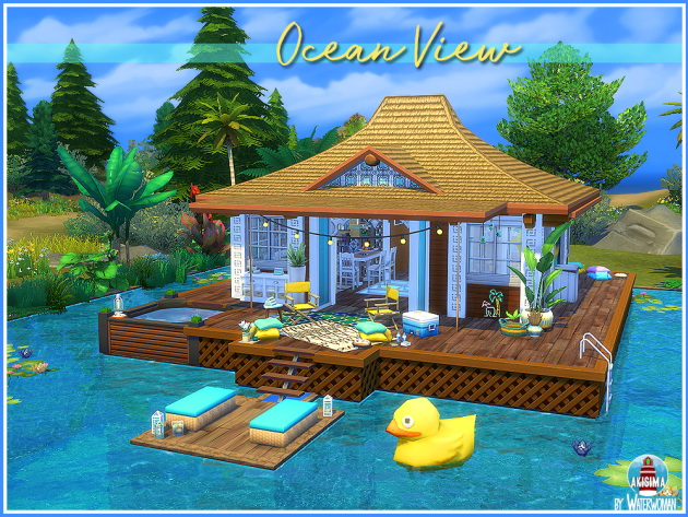 Ocean View house by Waterwoman at Akisima image 1193 Sims 4 Updates