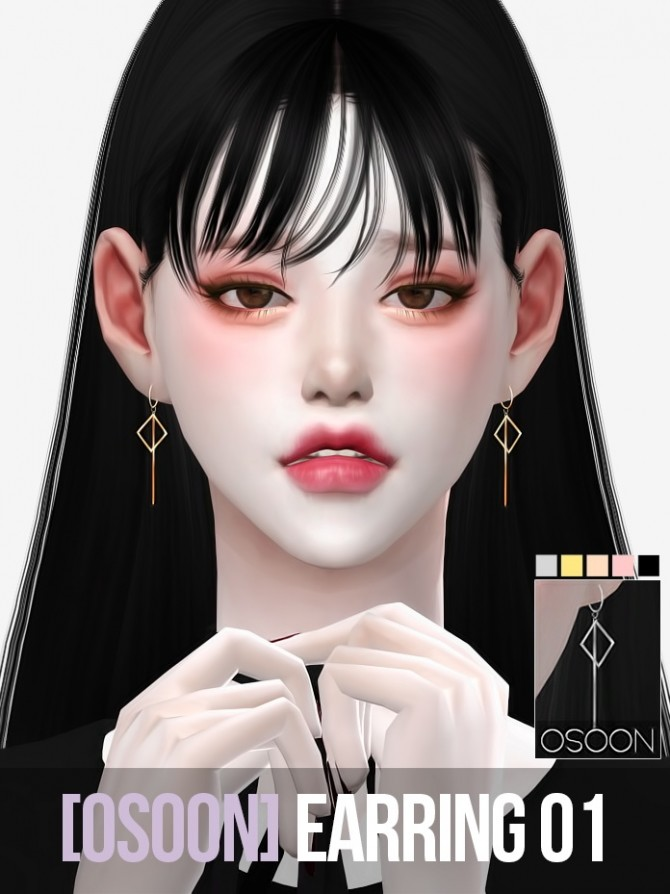 Earrings 01 at Osoon image 1195 670x894 Sims 4 Updates