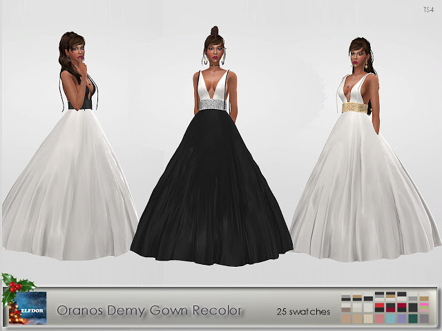 Oranos Demy Gown Recolor at Elfdor Sims image 120 Sims 4 Updates