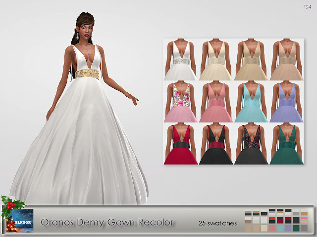Oranos Demy Gown Recolor at Elfdor Sims image 121 Sims 4 Updates