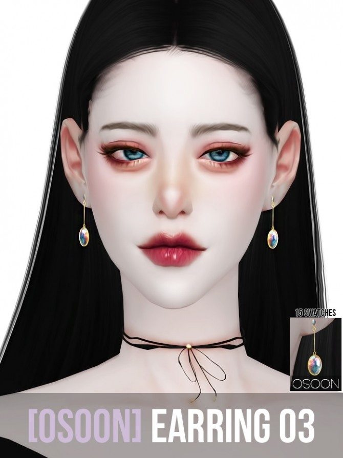 Earrings 03 at Osoon image 12111 670x894 Sims 4 Updates