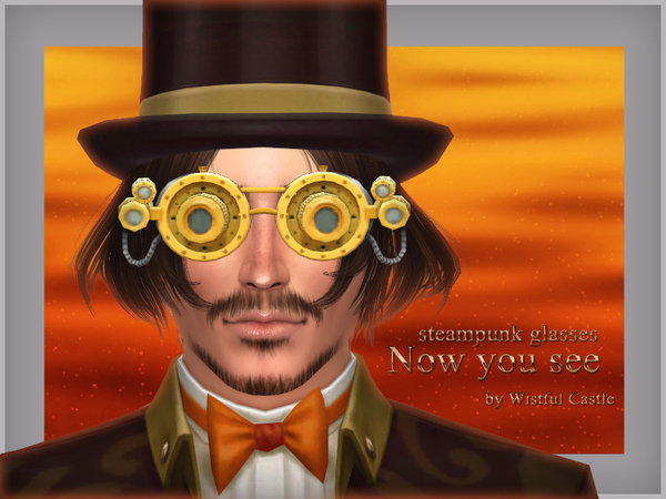 Now you see steampunk glasses by WistfulCastle at TSR image 1213 Sims 4 Updates
