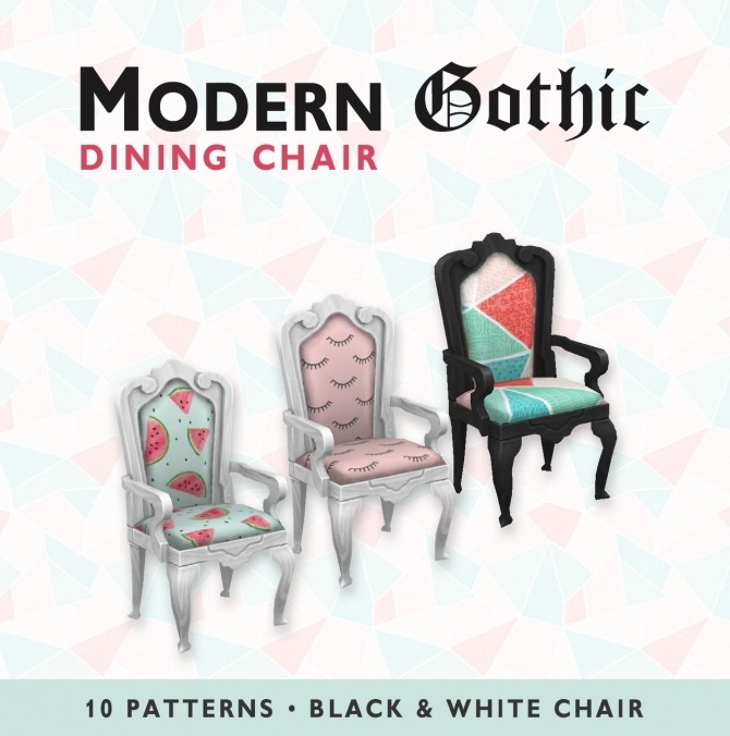 Sims 4 Modern Gothic Dining Chair at SimPlistic