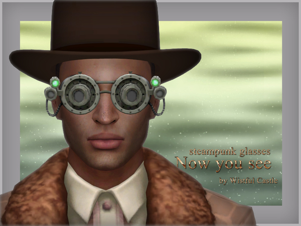 Now you see steampunk glasses by WistfulCastle at TSR image 1222 Sims 4 Updates