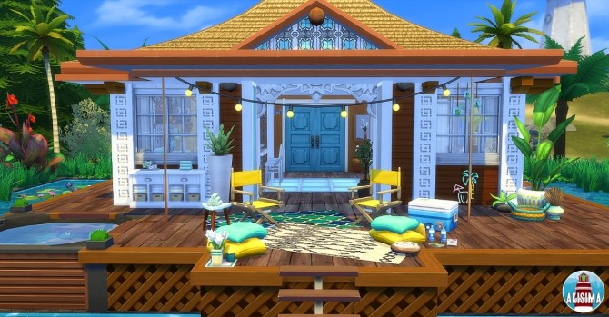 Sims 4 Ocean View house by Waterwoman at Akisima