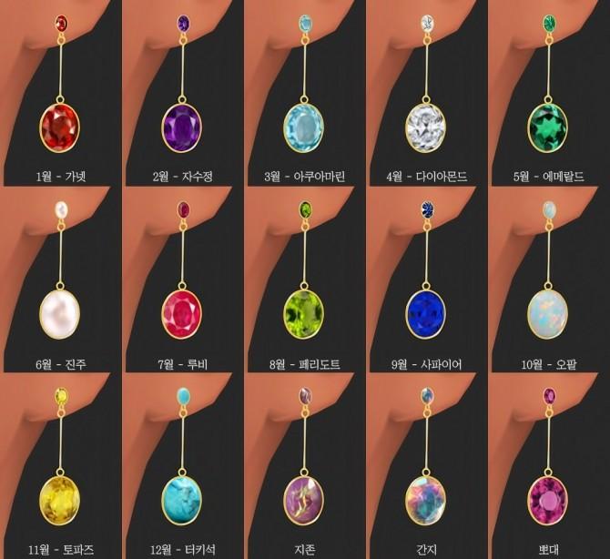 Sims 4 Earrings 03 at Osoon