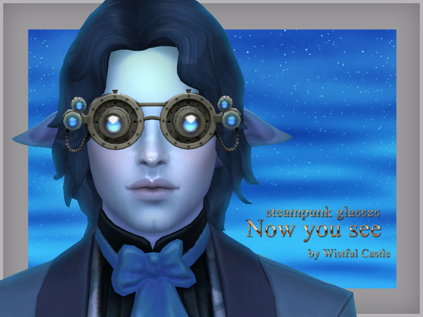 Now you see steampunk glasses by WistfulCastle at TSR image 1232 Sims 4 Updates