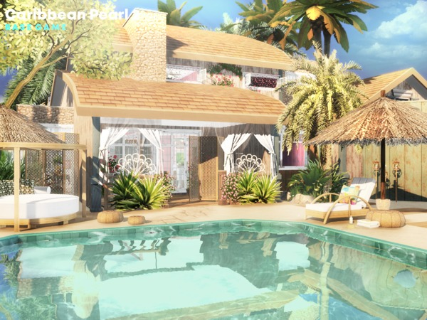 Caribbean Pearl 2 house by Pralinesims at TSR image 1242 Sims 4 Updates