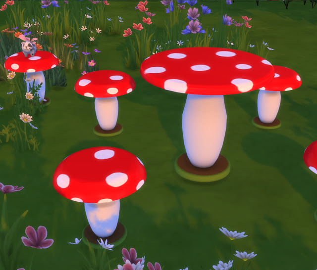 Mushroom Outdoor Seating at Simlish Designs image 1266 Sims 4 Updates